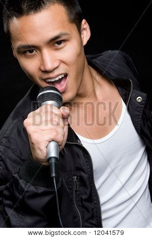 Asian Man Singing