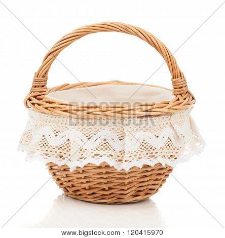 Brown Small Wicker Basket