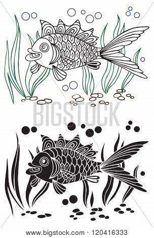 Fish And Seaweed Decorative
