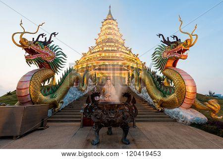 Landmark Temple Wat Hyua Pla Kang (chinese Temple) Chiang Rai, Thailand