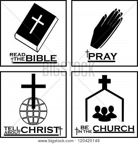 Christian logos by Christian icons