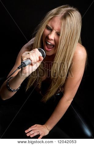 Rock Star Girl Singing