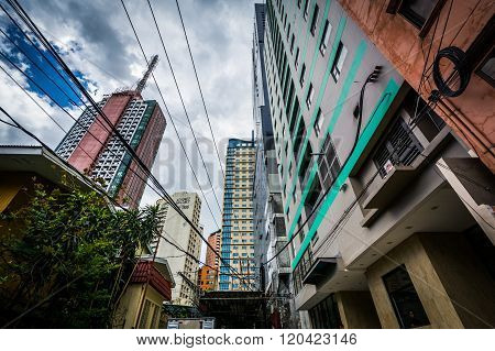 Skyscrapers In Poblacion, Makati, Metro Manila, The Philippines.
