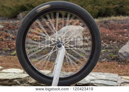 swivel wheel from the bike