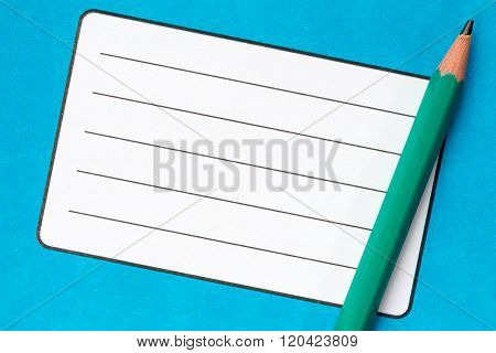 Book With Empty Name Label And Pencil