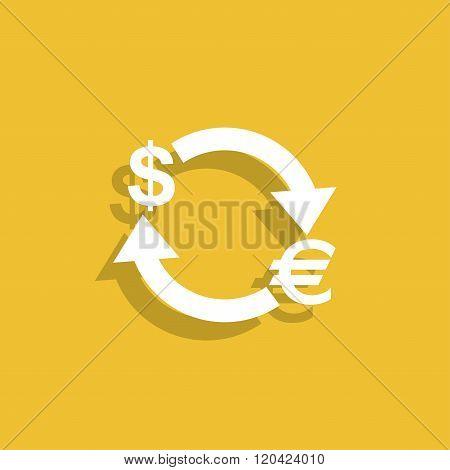 Money Convert Icon. Euro Dollar