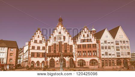 Roemerberg In Frankfurt Vintage