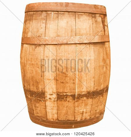 Retro Looking Wine Or Beer Barrel Cask
