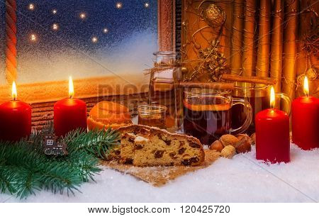 Mulled Wine And Christmas Cake, 3Rd Advent