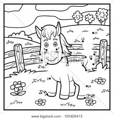Numbers Game, Dot To Dot (horse And Background)