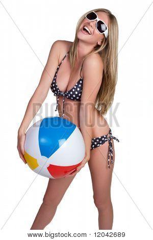 Isolated Beach Ball Girl
