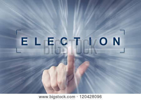 Hand Clicking On Election Button