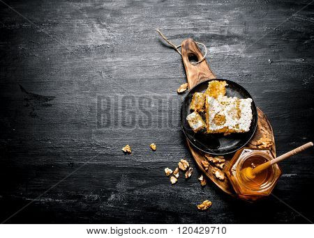 Fresh Honey In Glass Jar