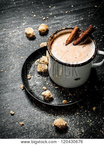 Cocoa Drink With Cinnamon And Dark Sugar.