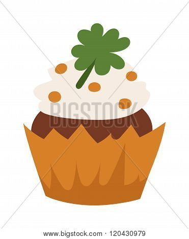 Organic cake vector illustration