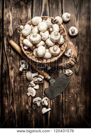 Mushrooms Style Background