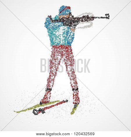 abstract biathlon sportsman