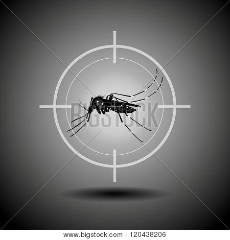 Kill Mosquito , Flat Icon Design,logo