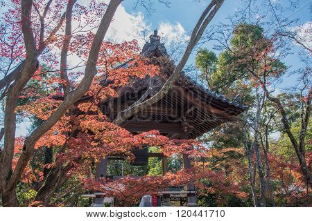View Of Japanese Belfry In Japan
