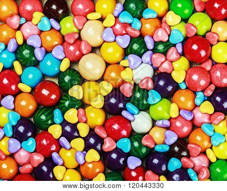 Multicolored Candy And Chewing Gum