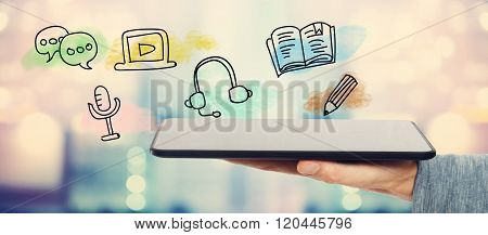 E-learning Concept With Tablet Computer