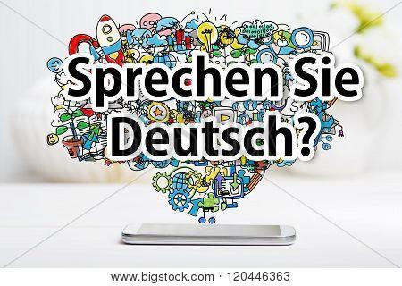 Sprechen Sie Deutsch Message With Smartphone