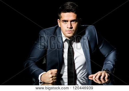 Businessman Objecting To Employee