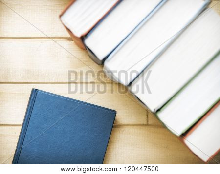 Books standing on the table