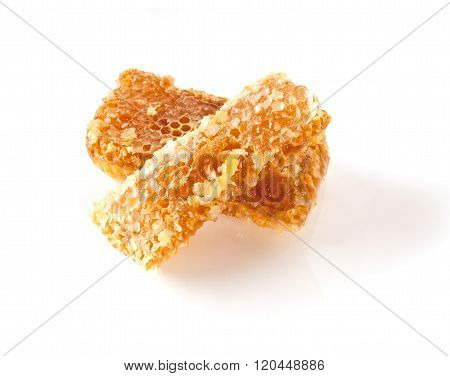 Honey comb over white background