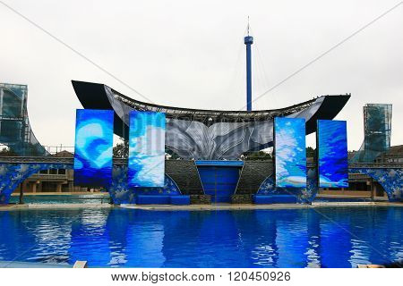 San Diego, California, Usa - August 19: Killer Whale Shamu Show On August 19, 2009
