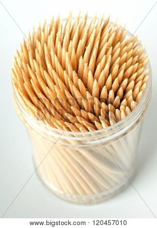 Toothpicks In Plastic Cup