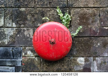 Old Fashioned Red Alarm Bell .