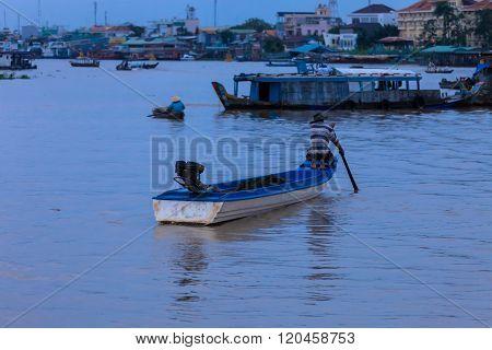 Mekong Panorama With Man