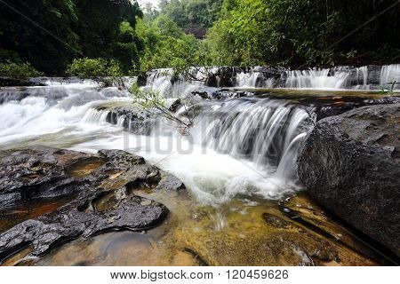 Huai Luang waterfall at Ubon Ratchathani in Thailand