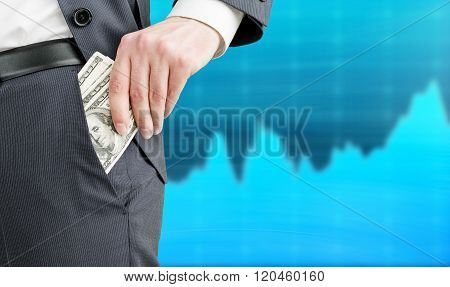 Businessman Getting Money