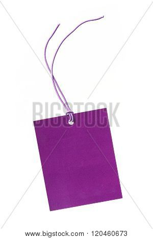 Purple Color Hanging Tag
