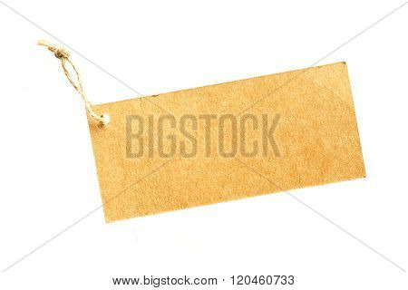 Brown Color Hanging Tag