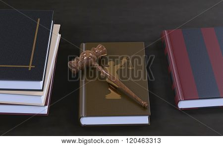 Gavel On A Law Book
