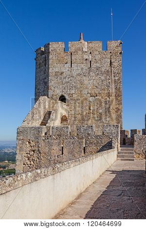 Palmela, Portugal. Keep Watchtower of the Palmela Castle.