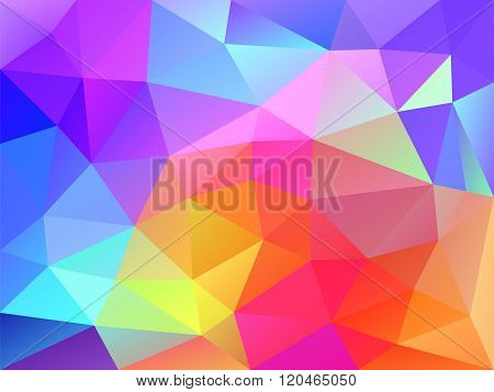 Geometric background with triangular polygons. Colorful abstract design. Vector illustration.