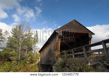 Old Covered Bridge In New England