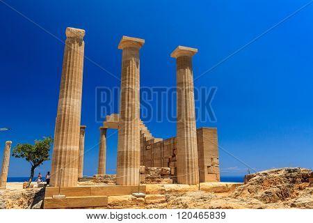 Acropolis in Lindos, Rhodes.