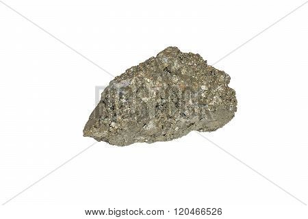 Raw Pyrite Aka Fool's Gold From China isolated