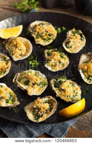 Homemade Creamy Oysters Rockefeller