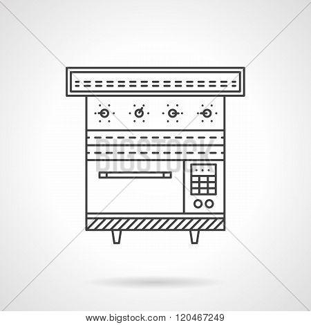Multi oven flat line design vector icon