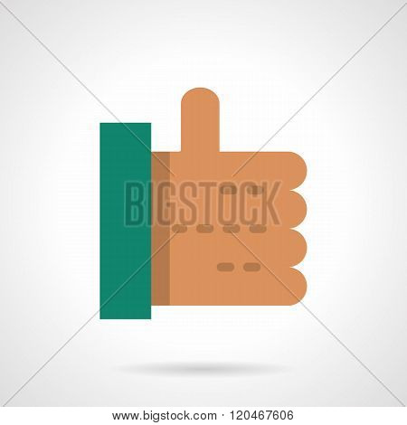 Thumb up flat color design vector icon