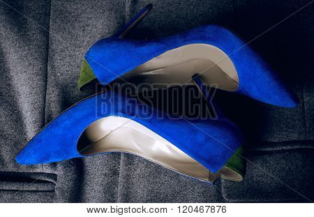 Female Blue Shoes