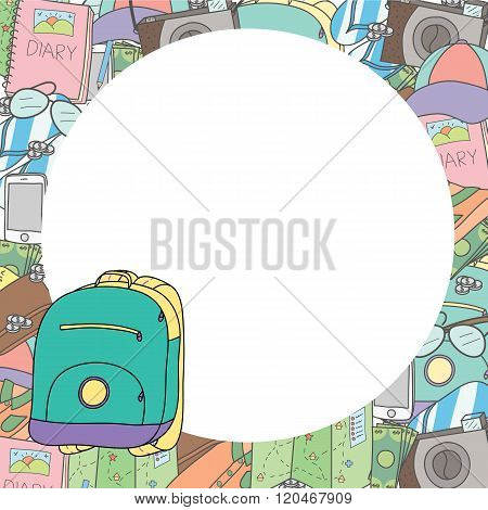 Illustration Travel Concept, Blank Space For Put Text