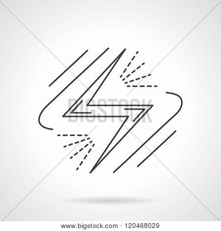Energy sign. Flat line design vector icon