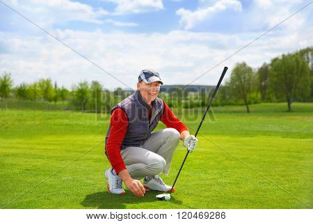 portrait of man golfer